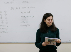 Abkhaz in London learn their mother tongue at the courses of the cultural center