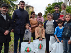 Winter shoes sets distributed to those in need in Abkhazia on New Year's Eve