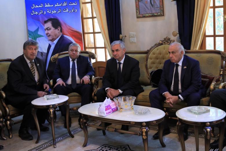 В составе правительственной делегации Абхазии в Сирии, сентябрь 2018 года