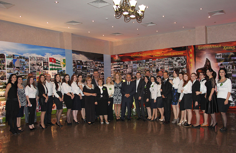 На торжественном приеме в честь 20-летия со дня победы в Отечественной войне народа Абхазии, Сухум 2013 год