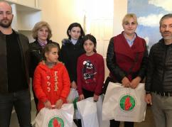 В рамках акции ВААК были переданы 30 пар зимней обуви подопечным детского реабилитационного центра в Сухуме