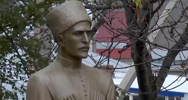Памятник Татлустану Табулову, аул Эльбурган