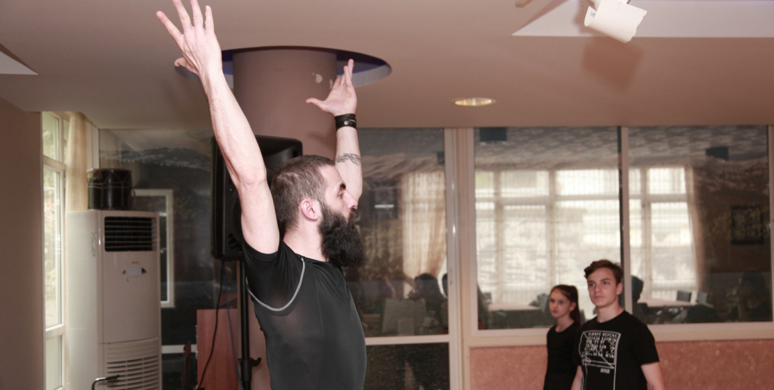 The head of the ensembles choreographer Burak Humsach is preparing the wards for the annual reporting concert, which traditionally takes place on the stage of the local House of Culture in mid-May.