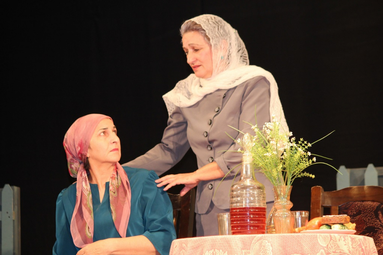 "Staging the performance ""Mother's Heart"""