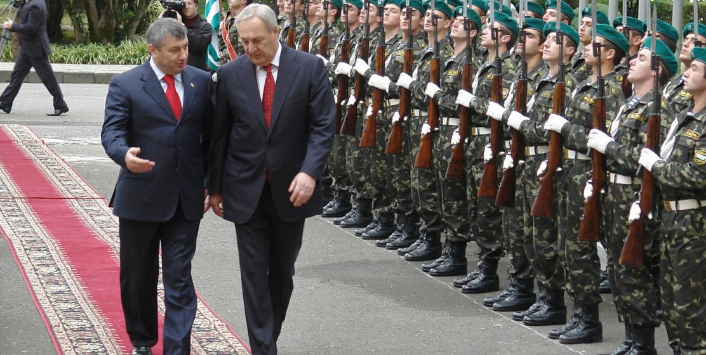 Визит президента Южной Осетии Эдуарда Кокойты в Абхазию