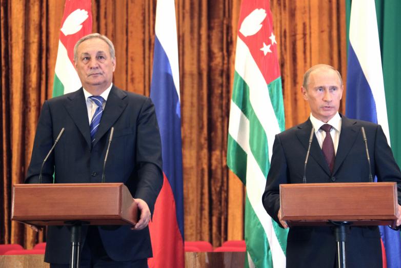 Выход к прессе с премьер-министром России Владимиром Путиным
