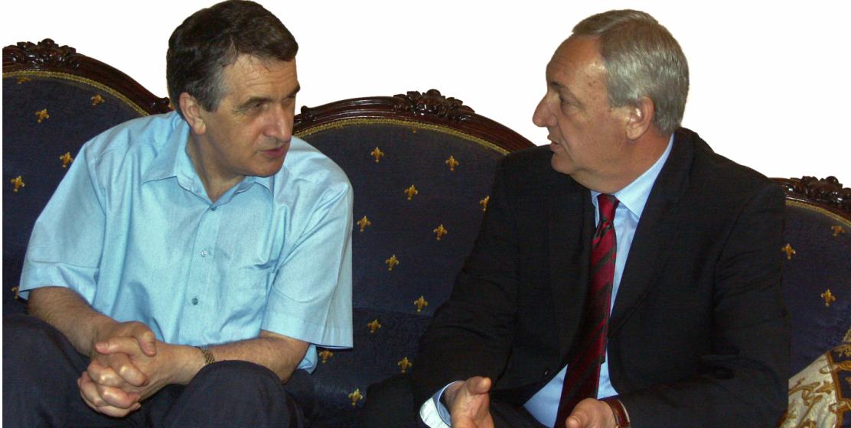 Сергей Багапш с первым президентом Абхазии Владиславом Ардзинба