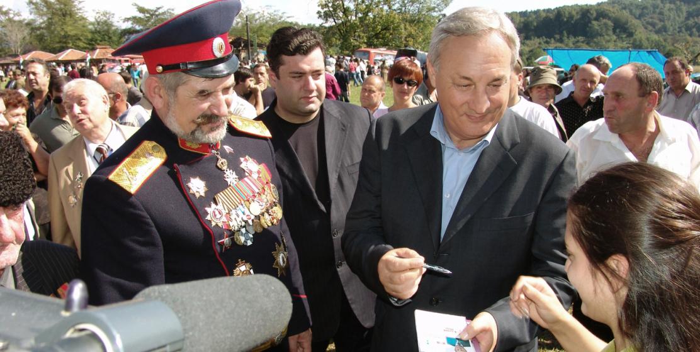 С верховным атаманом Всевеликого войска Донского Николаем Козициным на Мыкуаште