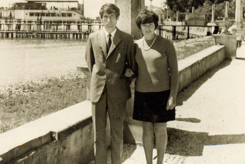 Таиф Аджба с супругой Риммой Когониа