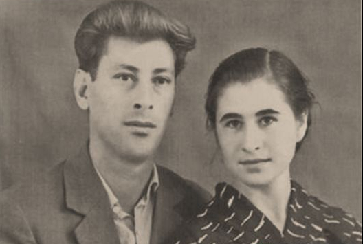 Молодожены Юрий и Октябрина Калмыковы, 1959 год