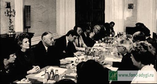 Встреча с делегацией Шведского Риксдага в Комитете по законодательству Верховного Совета СССР