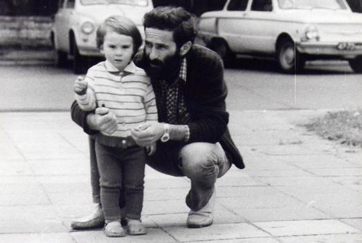 Мушни Хварцкия с сыном Заалом