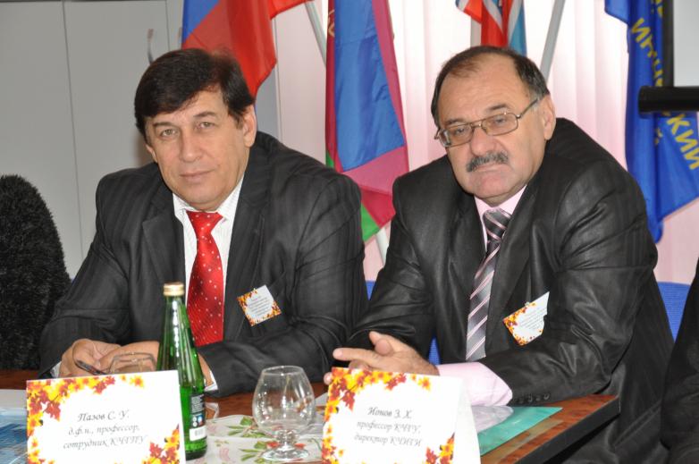 Сергей Пазов и профессор КЧГУ Ионов Зауаль