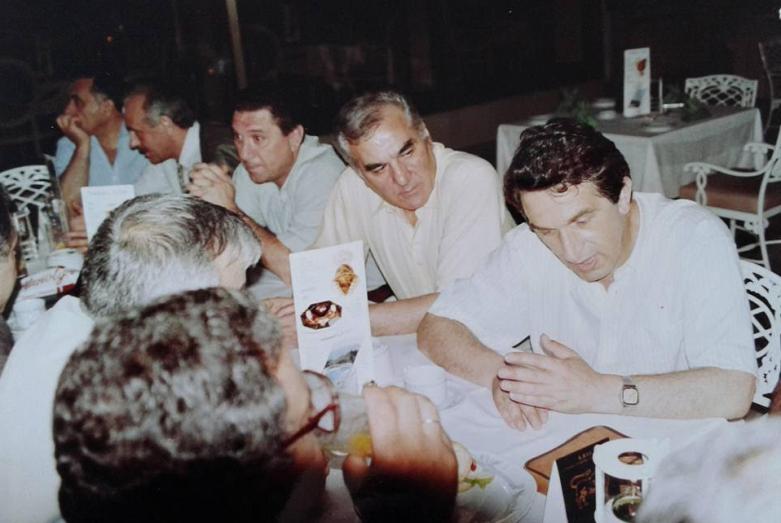 From left to right: Gennady Gagulia, Atai Atsushba, Zaur Ardzinba, Irfan Argun, Vladislav Ardzinba, Istanbul, July 1992