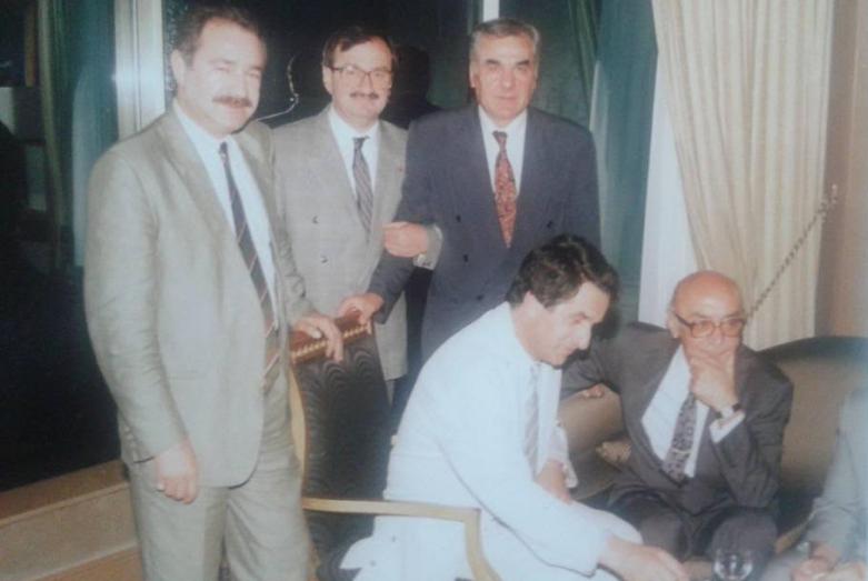 Дженгиз Гогуа, Абдулькадыр Ардзинба, Ирфан Аргун, Владислав Ардзинба, Дженгиз Капба, Стамбул, июль 1992 года