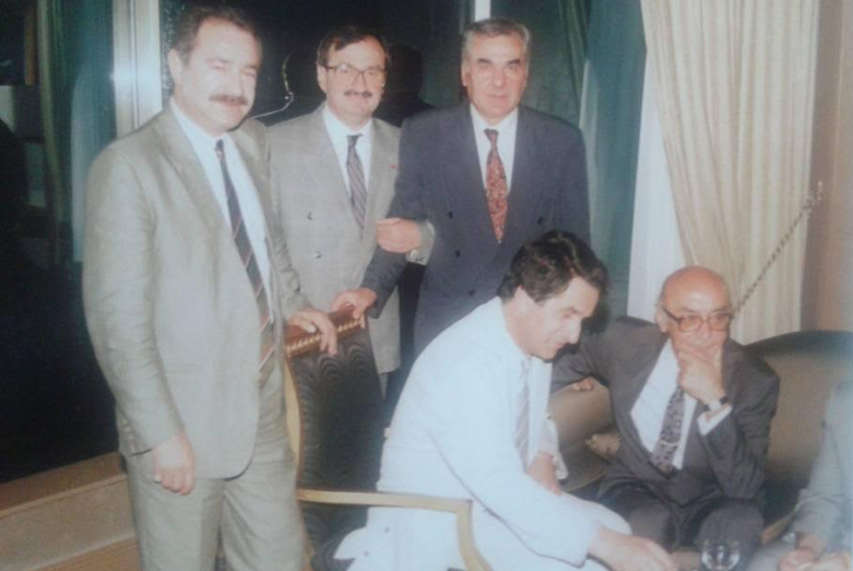 Cengiz Gogua, Abdulkadyr Ardzinba, Irfan Argun, Vladislav Ardzinba, Cengiz Kapba, Istanbul, July 1992