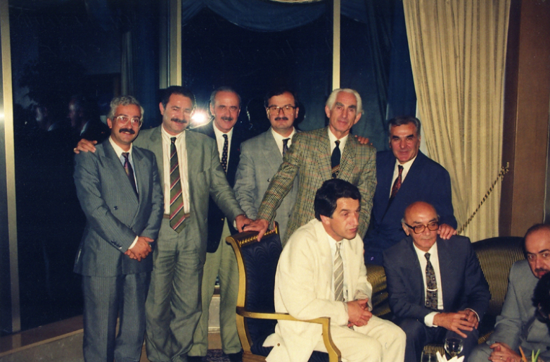 Дженгиз Гогуа, Абдулькадыр Ардзинба, Джемалеттин Ардзинба, Ирфан Аргун, Владислав Ардзинба, Дженгиз Капба, Стамбул, июль 1992 года