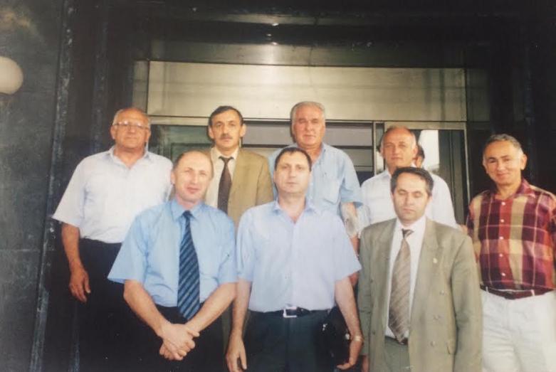 From left to right: top row - Vladimir Avidzba, Givi Dopua, Irfan Argun, Bulent Avidzba, Ardashchan Bganba; bottom row - Vladimir Zantaria, Sergey Shamba, Ilkhan Kuadzba