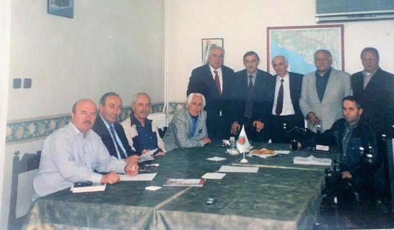 From left to right: Oktay Chkotua, Erol Kutelia, Recep Agrba, Jamalettin Ardzinba, Irfan Argun, Givi Dopua, Temur Achugba, Vladimir Avidzba, Gunduz Gechba, Ilkhan Kuadzba