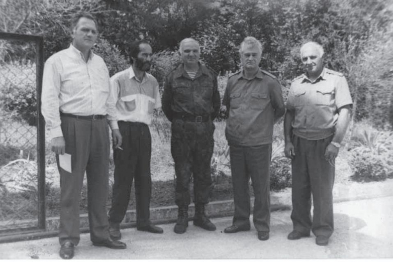 From left to right: Said Tarkil, Zaur Khvartskiya, Sergey Dbar, Sultan Sosnaliev, Leonty Chedia