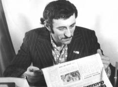 Керим Мхце в редакции газеты «Коммунизм алашара»