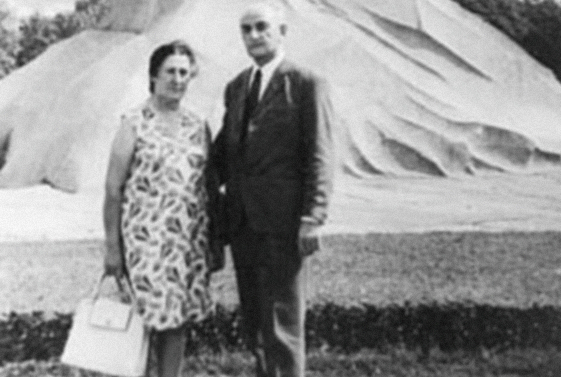 Georgy Dzidzaria and Olga Geria, Leningrad, 1973