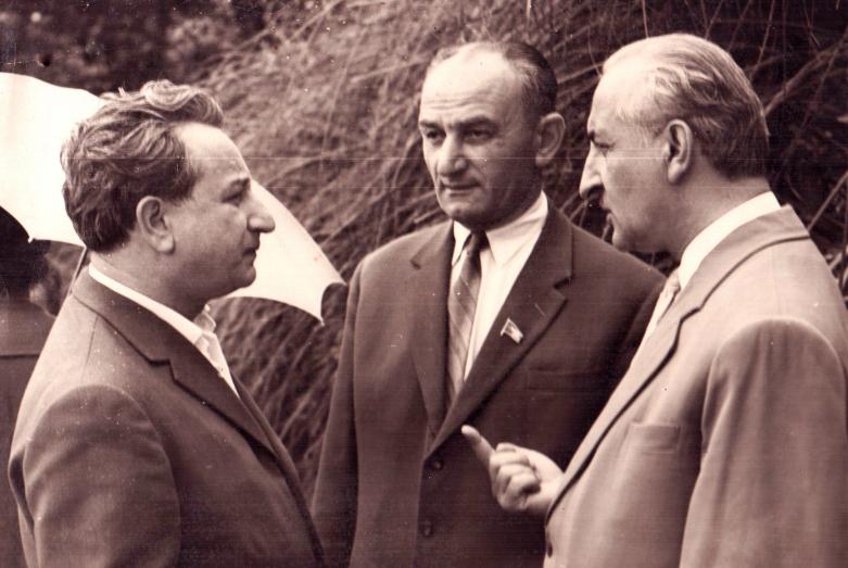 Георгий Гулиа, Георгий Дзидзария, Баграт Шинкуба, Сухум, июнь 1963 года