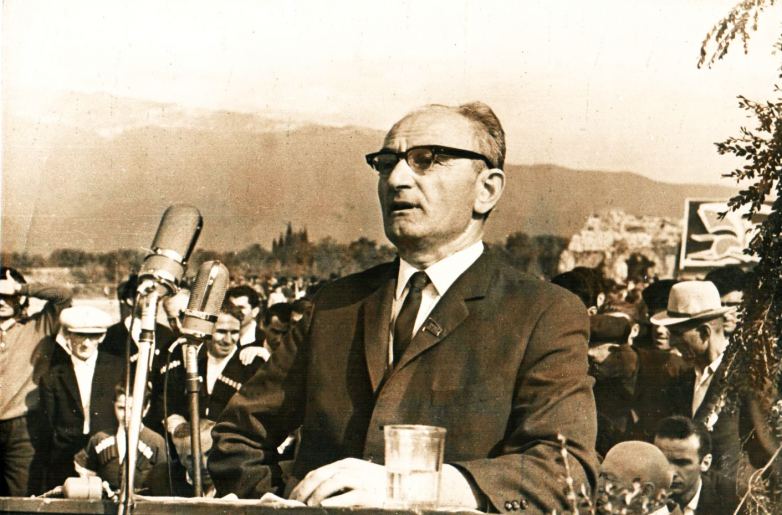 Georgy Dzidzaria - presentation at the celebration of the 100th anniversary of the Abkhaz uprising of 1866, the village of Lykhny, May 30, 1966