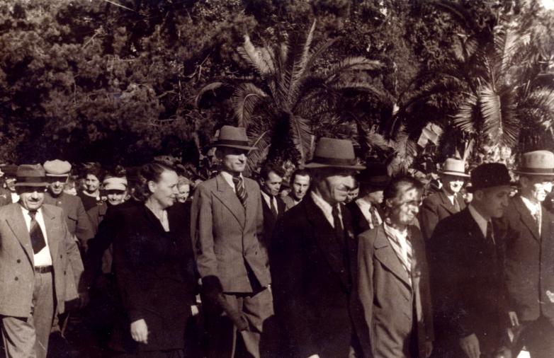 Георгий Дзидзария на параде
