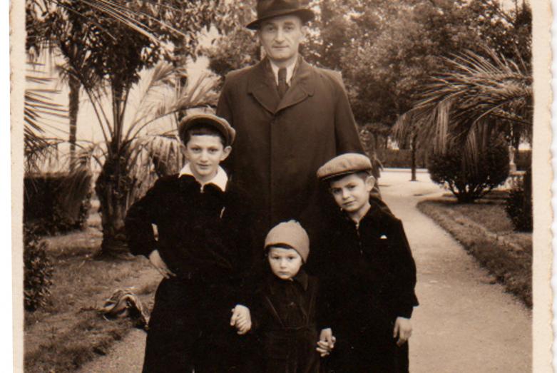Georgy Dzidzaria and his three sons - Astamur, Gudisa, Adgur