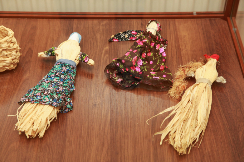 Toys for girls.  These dolls are made of corn.