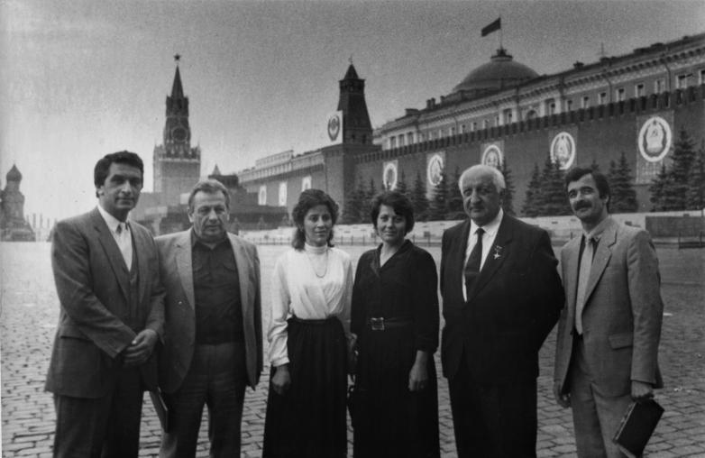 Народные депутаты СССР: Владислав Ардзинба, Алексей Гогуа, Баграт Шинкуба и Руслан Аршба