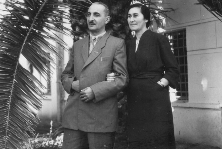 Баграт Шинкуба с супругой Тамарой Маршан, 1950-е годы