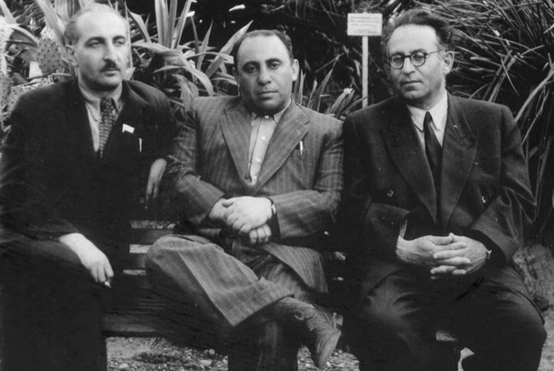 Семен Липкин, Василий Гроссман и Баграт Шинкуба, 1966 год