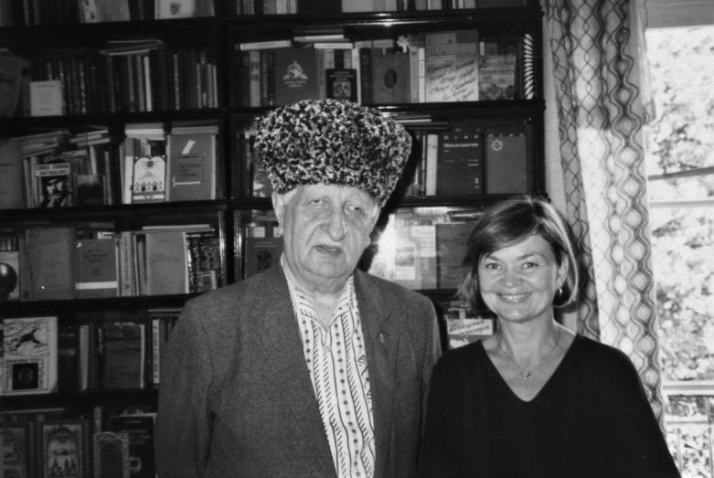 Баграт Шинкуба и Пола Гарб - автор перевода романа «Последний из ушедших» на английский язык, 1980-е годы