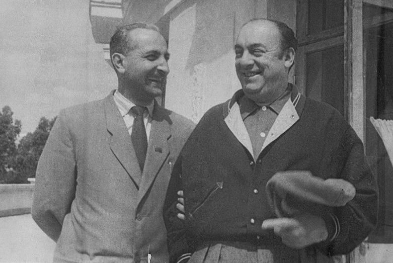 Баграт Шинкуба и чилийский поэт Пабло Неруда, 1957 год