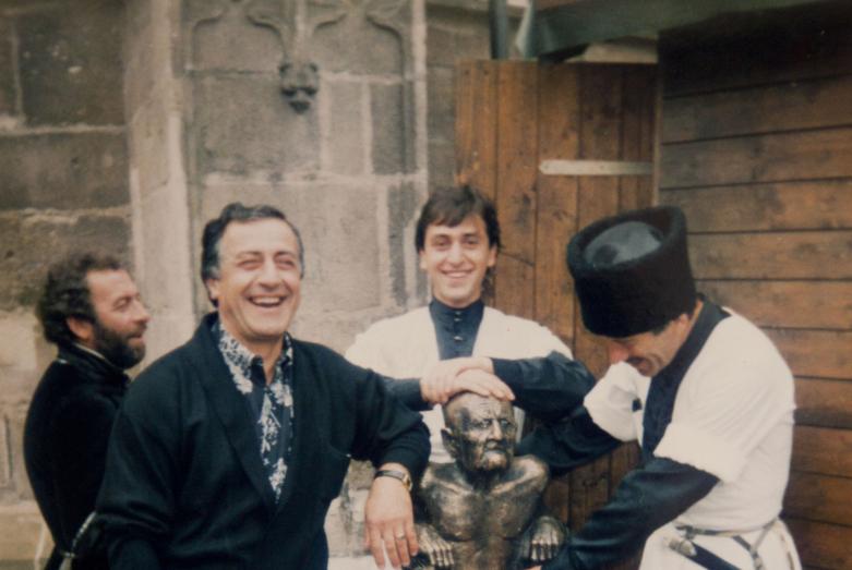 Кандид Тарба, Отар Хунцария, Тимур Квеквескири, Арвелод Тарба, Германия, 1999 год