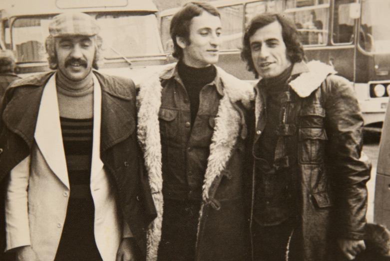 Резо Начкебиа, Нодар Плиев и Кандид Тарба - танцоры Государственного академического ансамбля народного танца Грузии Сухишвили-Рамишвили , 1986 год