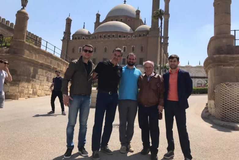 Мухаммед Абаза во время визита представителей ВААК в Египет, апрель 2019 года