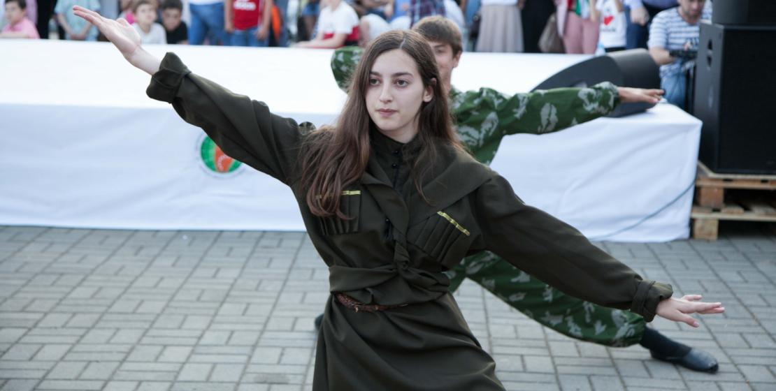 Лучшие номера показали танцоры из ансамбля национального танца Очамчырской школы-интерната