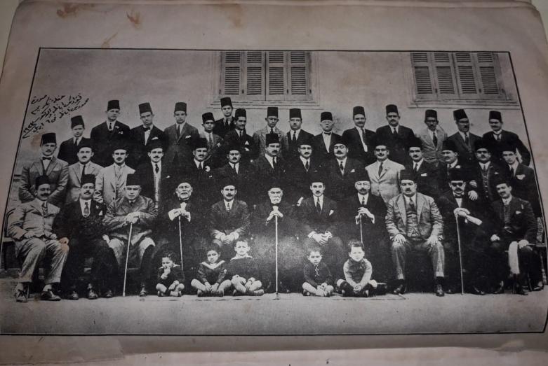 На чествовании Фуада Абаза и доктора Махмуда Абаза, 6 апреля 1923 года.