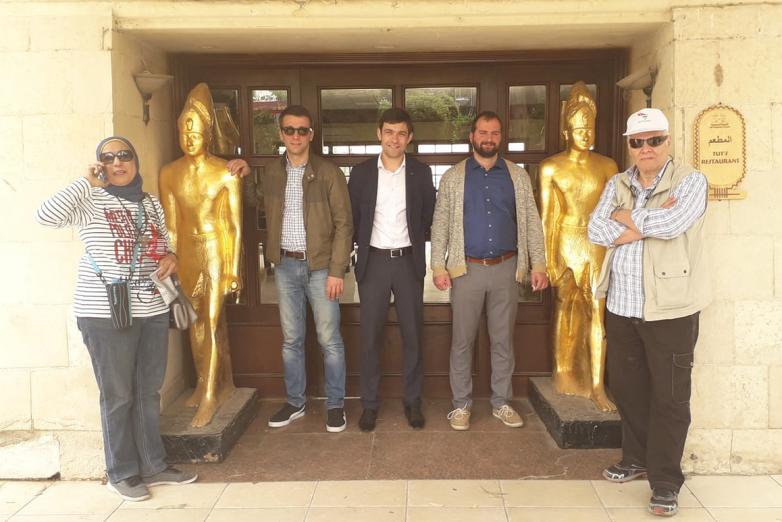 Рауф Абаза (Маан) с представителями ВААК в Египте, апрель 2019 года