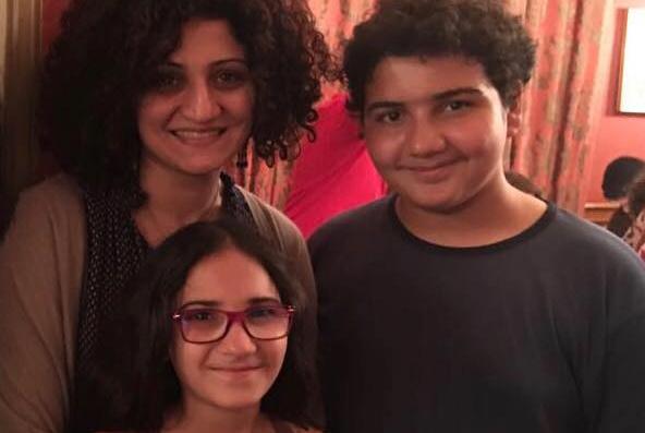Дочь Моны – Иман Абаза с детьми