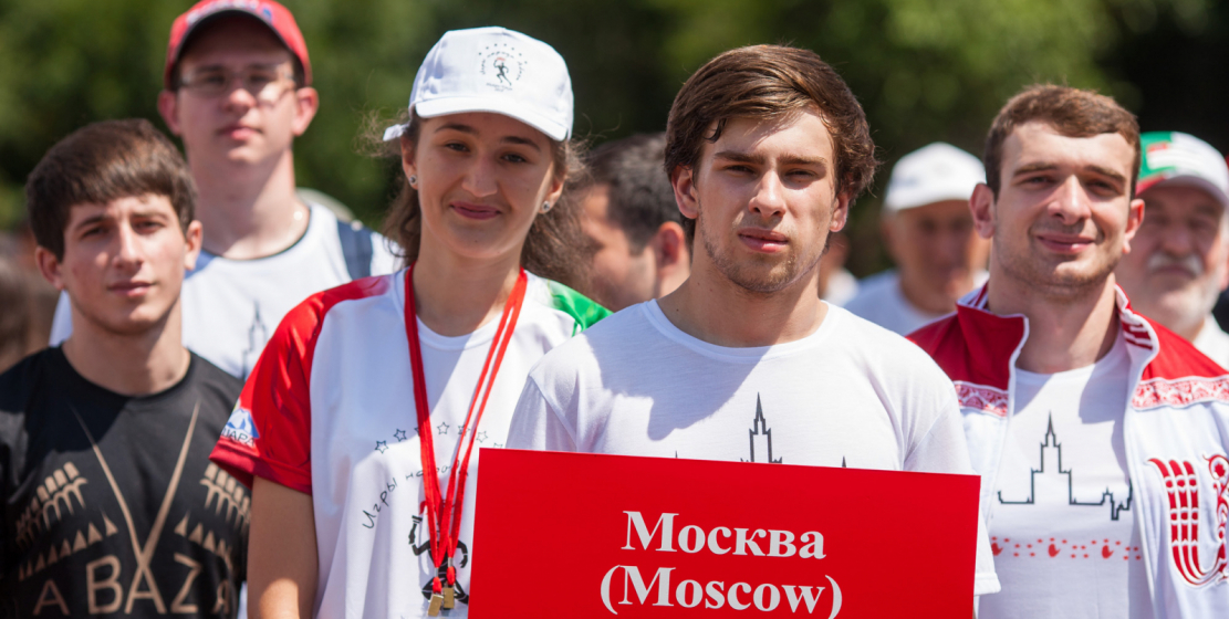 Representatives of the Abkhazian Moscow Diaspora also came to compete for the main goblet of games.