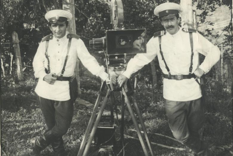 Аслан Камкиа на съемках, 1980-е годы