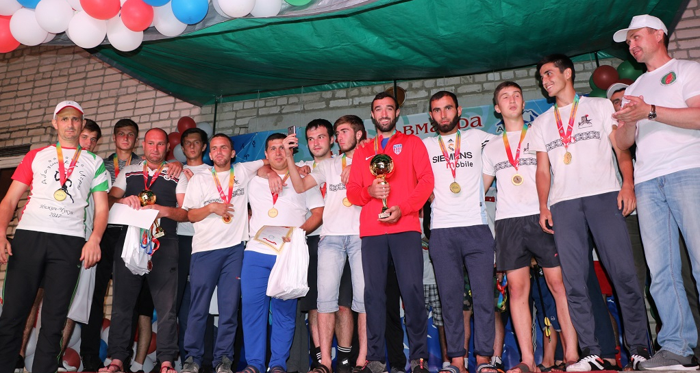 Participants of the Abkhaz-Abaza Games after the awards ceremony. Many have tears in their eyes