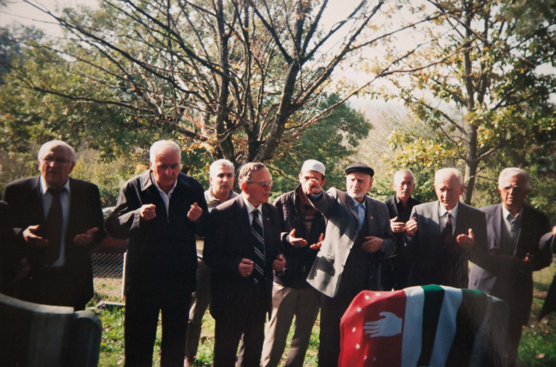 Funeral of the first dead volunteer from Turkey, the hero of Abkhazia Efkan Tsyba