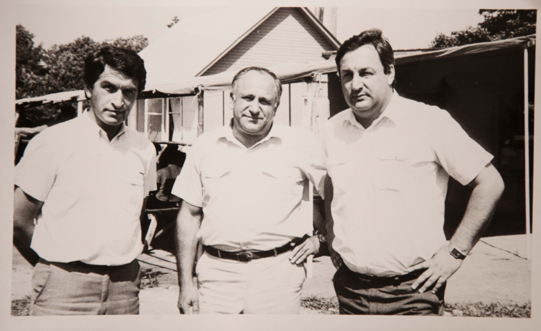 Vladislav Ardzinba, Vladimir Avidzba, Sergey Bagapsh, acquaintance with archaeological finds, Tamysh, summer 1976-1977
