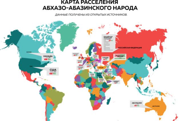 На стенде Конгресса впервые была представлена большая карта расселения абхазо-абазинского народа по всему миру