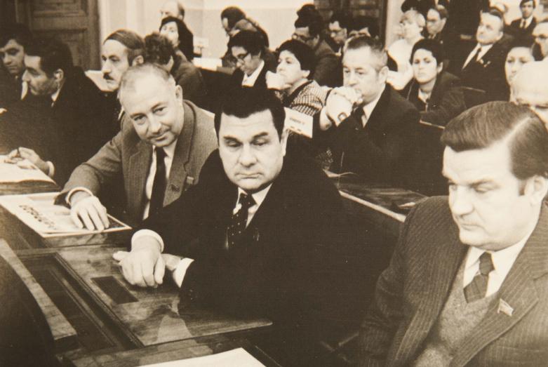 Первый секретарь Абхазского Обкома партии, депутат Верховного Совета СССР, член бюро Абхазобкома Борис Адлейба